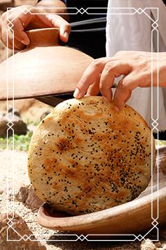Brot aus der original Ali Baba Tajine